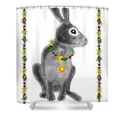 Bunny Post Card Shower Curtain