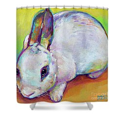 Bunny Shower Curtain by Robert Phelps
