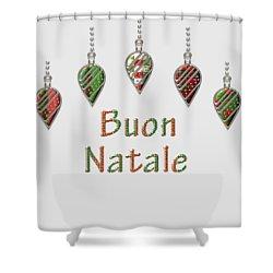 Buon Natale Italian Merry Christmas Shower Curtain