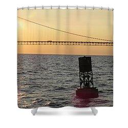 Buoy And Bridge Shower Curtain