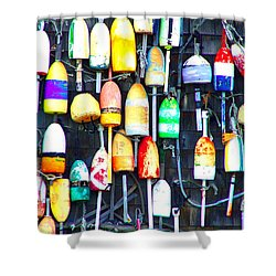 Buoy Art Shower Curtain by Bill Holkham