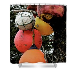 Shower Curtain featuring the photograph Buoy Decorated Tree by Brandy Little