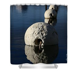Shower Curtain featuring the photograph Buoy Upfront by Stephen Mitchell