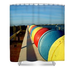 Buoys In Line Shower Curtain