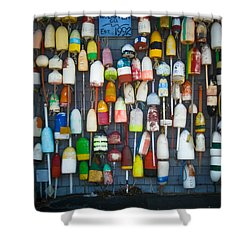 Buoys, Martha's Vineyard Shower Curtain