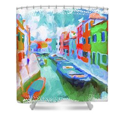 Burano, Venice, Italy Shower Curtain