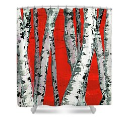 Burch On Red Shower Curtain