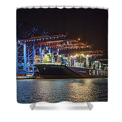 Burchardkai Hamburg Shower Curtain