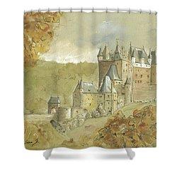 Burg Eltz Castle Shower Curtain by Juan Bosco