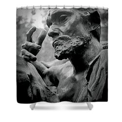 Shower Curtain featuring the photograph Burgher Of Calais - I by Samuel M Purvis III