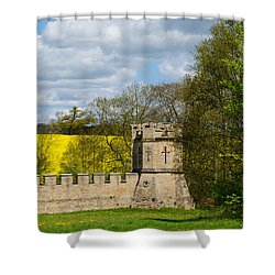 Burghley House Fortifications Shower Curtain