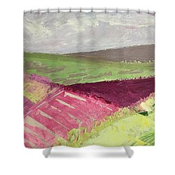 Burgundy Fields Shower Curtain
