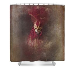 Burgundy In Venice Shower Curtain