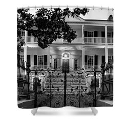 Burgwin Wright House In Black And White Shower Curtain