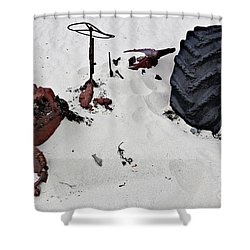 Shower Curtain featuring the photograph Buried Up To The Wheels by Stephen Mitchell