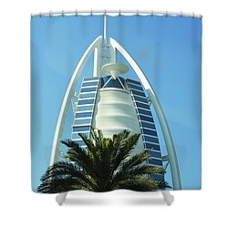 Shower Curtain featuring the photograph Burj Al Arab by Hanza Turgul