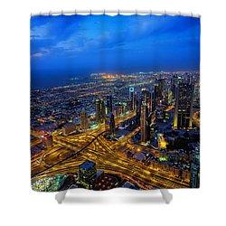 Burj Khalifa View Shower Curtain