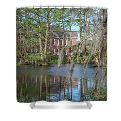 Shower Curtain featuring the photograph Burke Hall Cypress Lake by Gregory Daley  PPSA