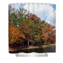 Shower Curtain featuring the photograph Burke Lake Park by Gina Savage