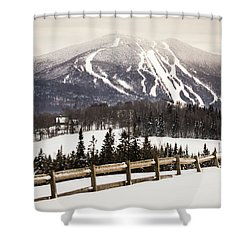 Burke Mountain And Fence Shower Curtain