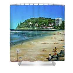 Burleigh Beach 100910 Shower Curtain