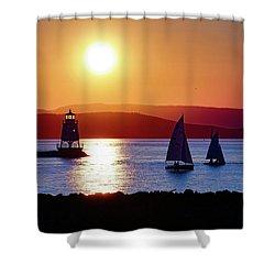 Burlington Breakwater Sunset Shower Curtain