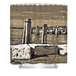 Burlington Pier Shower Curtain