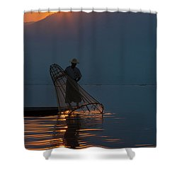 Burma_d143 Shower Curtain by Craig Lovell