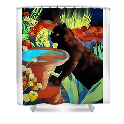 Burmese Afternoon Shower Curtain