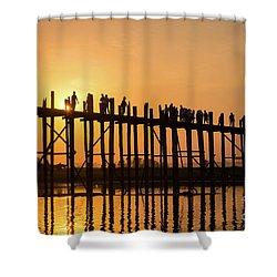Burmese Sunset Shower Curtain