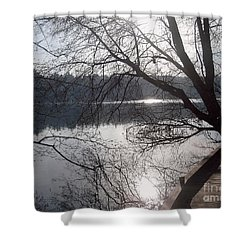 Shower Curtain featuring the photograph Burnaby Walk by Kim Prowse