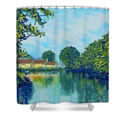 Burnby Hall Shower Curtain