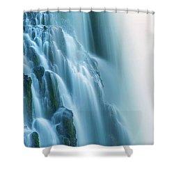Burney Falls Close Up Shower Curtain