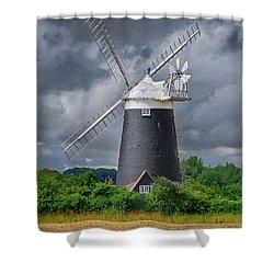 Burnham Overy Mill Shower Curtain by Steev Stamford