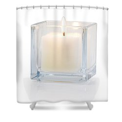 Burning Candle Side View 20 Degree Shower Curtain by Atiketta Sangasaeng