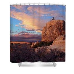 Burning Daylight Shower Curtain