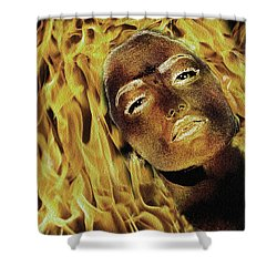 Burning Desire Shower Curtain by Manjot Singh Sachdeva