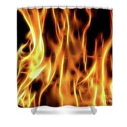 Burning Flames Fractal Shower Curtain