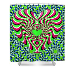 Burning Heart Shower Curtain
