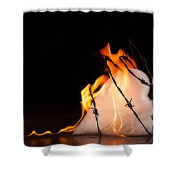Shower Curtain featuring the photograph Burning Love by Yvette Van Teeffelen