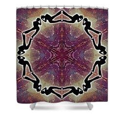 Shower Curtain featuring the digital art Burning Movement by Derek Gedney