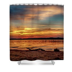 Burning Sky Shower Curtain
