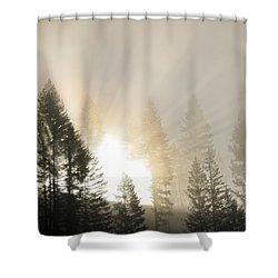 Burning Through The Fog Shower Curtain