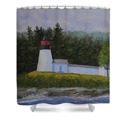 Burnt Island Light Shower Curtain