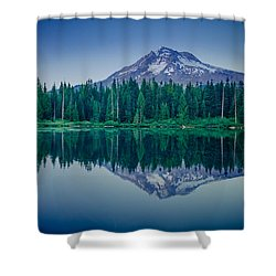 Burnt Lake Reflection Shower Curtain
