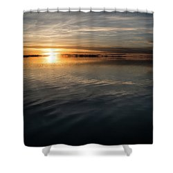 Burnt Reflection Shower Curtain by Justin Johnson