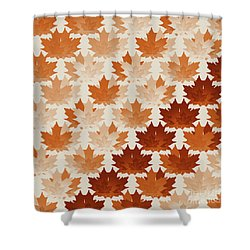 Shower Curtain featuring the digital art Burnt Sienna Autumn Leaves by Methune Hively