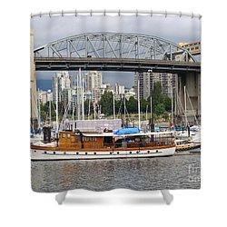 Burrard Street Bridge, Vancouver Shower Curtain by Rod Jellison