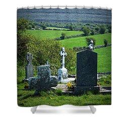Burren Crosses County Clare Ireland Shower Curtain