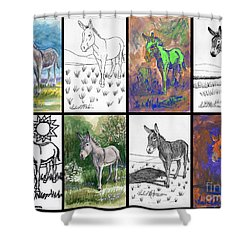 Burro Sampler #1 Shower Curtain